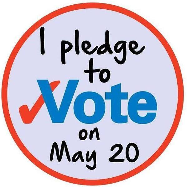 600x600 Pledge, in Vote May 20th, by John S. Quarterman, for GretchenforLowndes.com, 20 May 2014